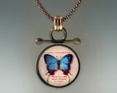 Blue Butterfly Pendant Blue Butterfly Necklace by Jackie Taylor Designs