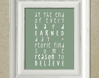 bruce springsteen art print / reason to believe lyrics