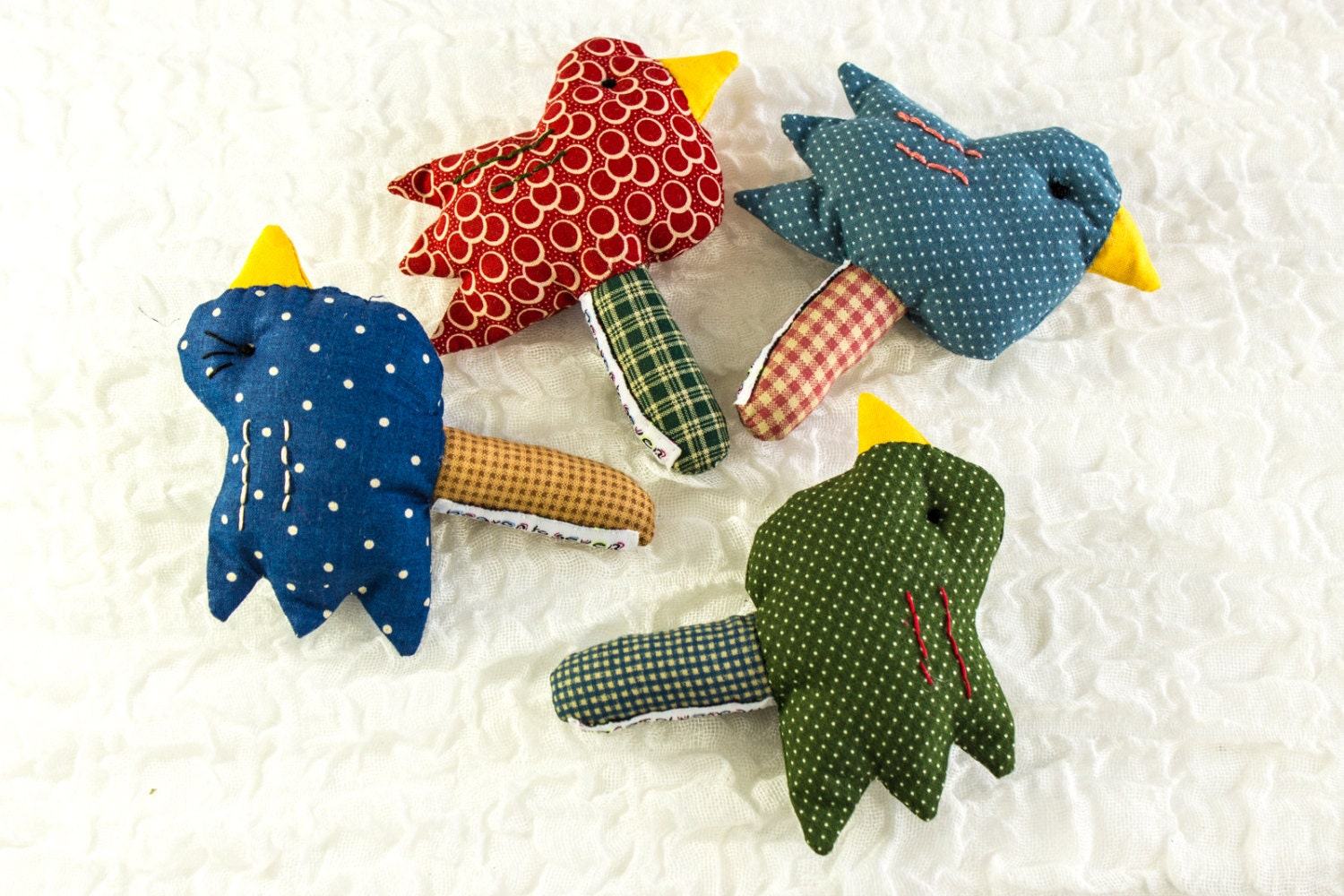 Soft Toy Patterns : Sewing pattern toy rattle baby bird