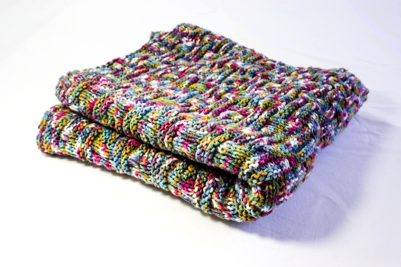 KNITTING PATTERN Baby Blanket Reversible Knit Baby Blanket