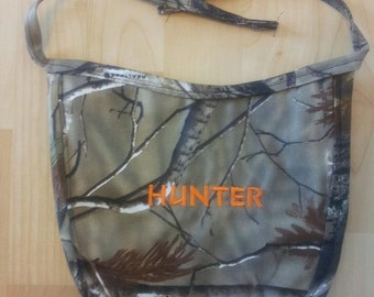 Camo Personalized Baby Bibs - Embroidered w/ your choice of name