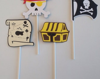 Pirate Cupcake Toppers, set of 24