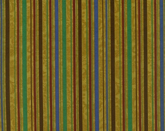 RJR Fabrics Audrey Wright Briarcliff 1674 01 Stripe Gold by the Yard