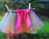Rainbow Little Girl's TulleTutu
