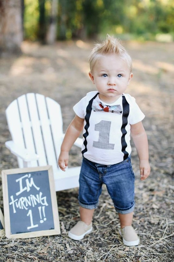 Boys First Birthday Outfit Baby Boy Clothes di SewLovedBaby