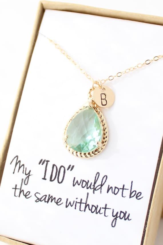 prasiolite green gold rope rim necklace
