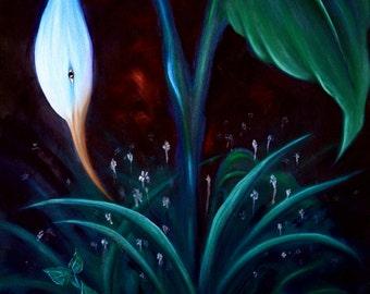 Bird of Paradise. Oil on canvas 91cmx61cm