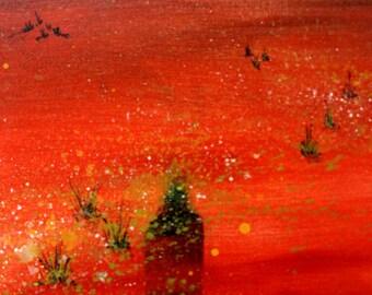 Isolation: Acrylic on canvas 30cm x 61cm