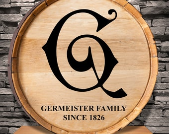 Family Since Personalized Whiskey Barrel Sign - GC1130 SCRIPTINITIAL