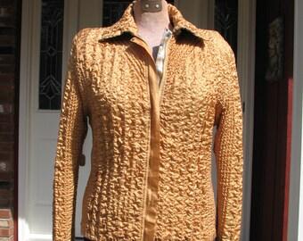 Vintage Silk Jacket - Crinkled Jacket - Spring Jacket - Two Sided Jacket