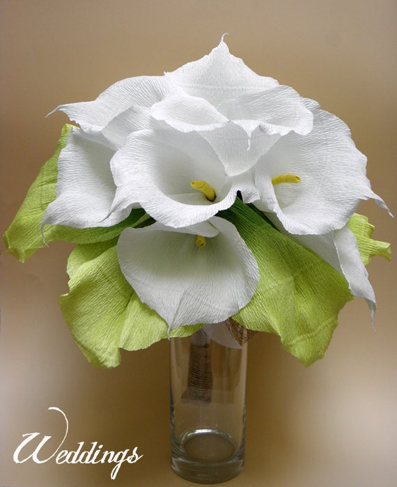 Flowers Similar To Lilies: Items Similar To Bridal Bouquet/ Wedding Calla Lily