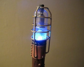 SOLD - Walking stick #125, Steampunk goes electric!