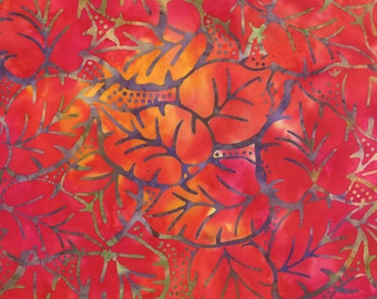 Red Batik Fabric - Catalina Batik for Moda Fabrics - Sunrise 4329 15 - 1/2 yard