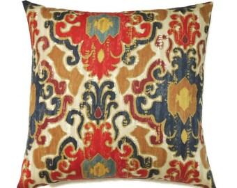 Modern Pillow, 16x16 Pillow Cover, Decorative Pillows, Ikat Pillow, Accent Pillow, Swavelle Mill Creek Toroli Twill Jewel