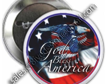 God Bless Our America 2.25 inch button