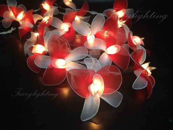 Red String Lights For Bedroom : String Lights 20 Red Tone Flower Fairy String by fairylighting