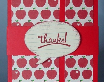 Thank you teacher gift card holder