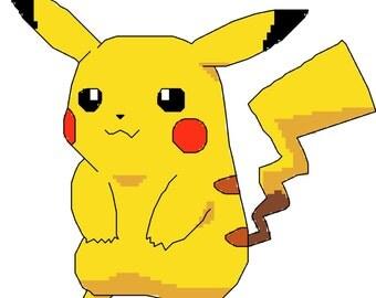 Pokemon Pikachu Cross Stitch Pattern