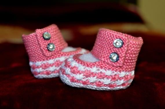Daisy Baby Booties Knitting Pattern : Knitting Pattern Only - Daisy Stars Baby Booties from ...