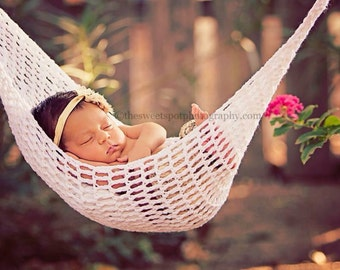Crochet Newborn Photo Prop, Newborn Photo Outfit, Newborn Hammock