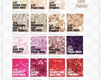 Romantic Colors of Sequin linen MADE TO ORDER, Shimmery Baby Pink, Champagne, Lavender Sequin fabrics for Wedding / Bridal Shower Decoration