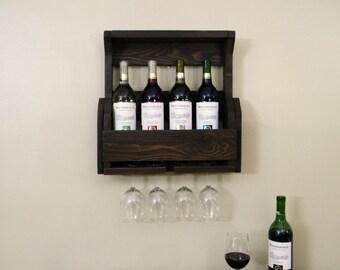 Wine Rack, Wood Wine rack, Gift, Christmas Gift, Reclaimed Wood, Rustic Home Decor, Wedding Gift, Pallet Furniture, Wooden Shelf,