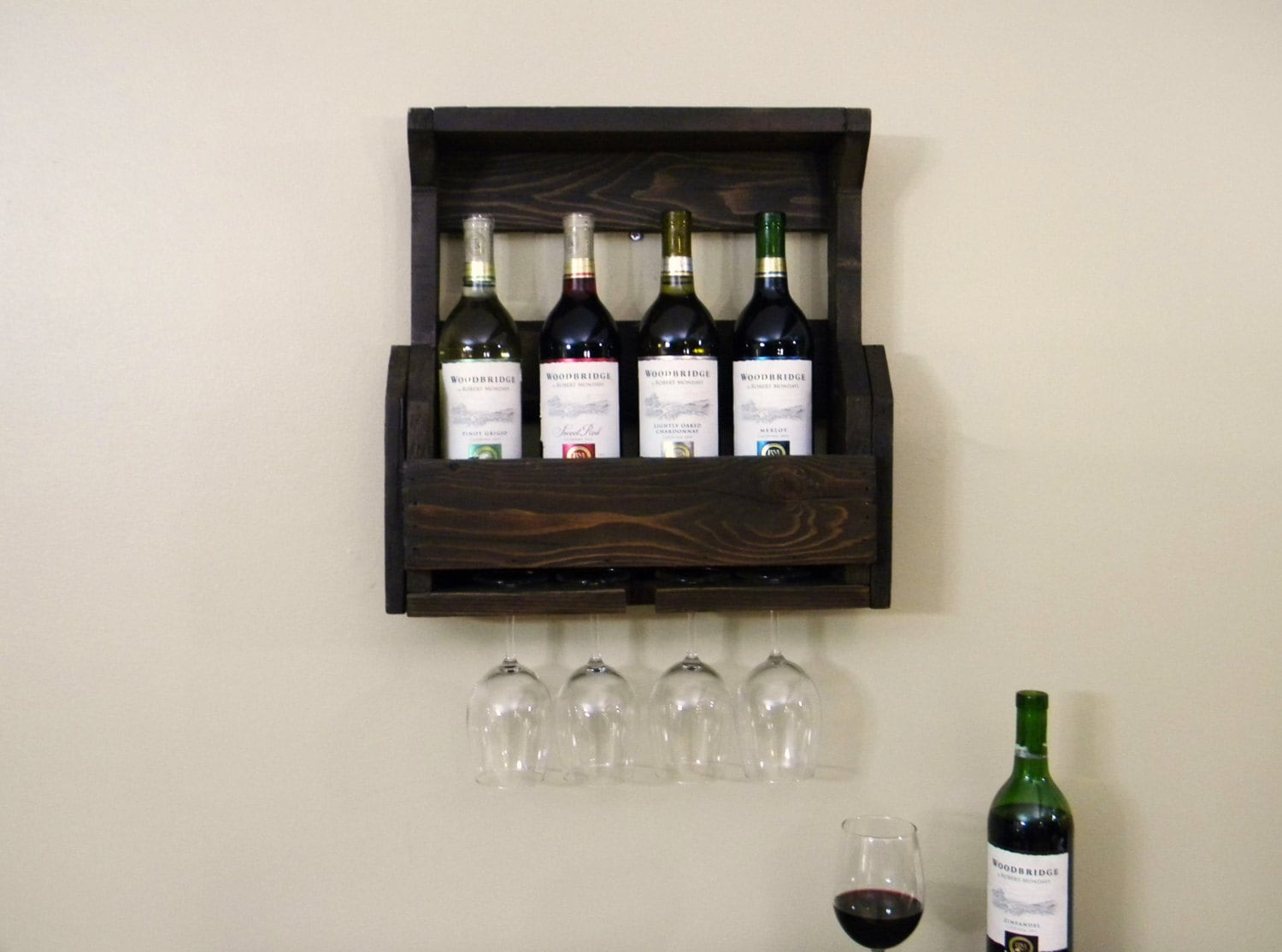 Reclaimed Wood Wine Cabinet Wine Rack Wood Wine Rack Gift Christmas Gift Reclaimed