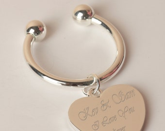 Keychain with Heart Dangle