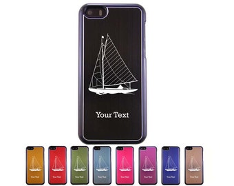 Personalized Engraved Sail Boat, Sailing Aluminum Case for iPhone 5c, 6, 6 plus
