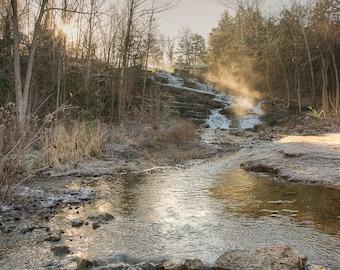 Gift of Light- Fine Art Landscape Photograph. Winter Sunrise in the Ozark Mountains of Arkansas.