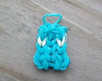 Teal Ghost Charm - Rubber Band Ghost Charm - Phone Charm - Bracelet Charm - Halloween Ghost - Stocking Stuffer