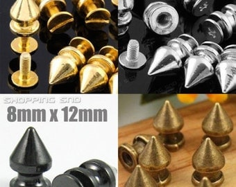 Wholesale Metal Tree Spikes and Studs 12mm Gold/Silver/black/bronze FREE SHIPPING 1/10/30/50/100/500/1000 PCS