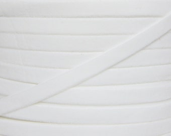 White 3/8 inch Velvet Elastic - Elastic For Baby Headbands and Hair Ties - 5 Yards of 3/8 inch Velvet FOE
