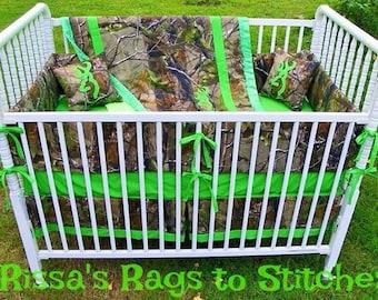 Camo Crib Bedding Etsy
