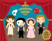 Cute Kids Clipart - Phantom Opera Clip Art - Dollface Cuties - Party Clip art