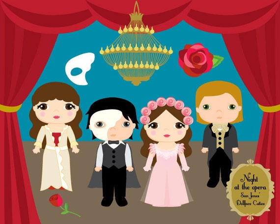 Cute Kids Clipart Phantom Opera Clip Art Dollface Cuties