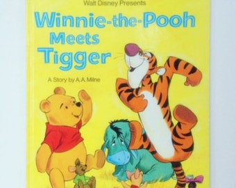 Vintage Winnie The Pooh Meets Tigger Golden Book