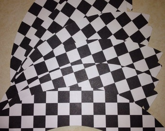 Checkered flag cupcake wrappers