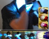 Rave Gloves Light Up Gloves for Cyborg Robot Costume Orbit Light Show Glover Dance Pop Cosplay Ligth Up Costume Clothing Festival LED Gloves
