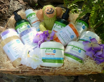 Deluxe Mommy & Me Gift Basket Organic Ingredients Vegan