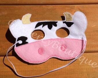 Felt Cow Mask