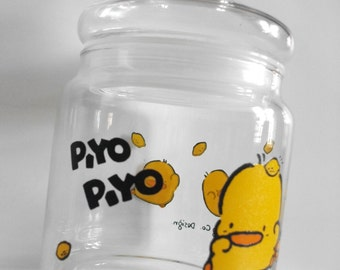 Tung Ling Company - Piyo Piyo - Glass Jar - Made in 1991 - Made in Thailand