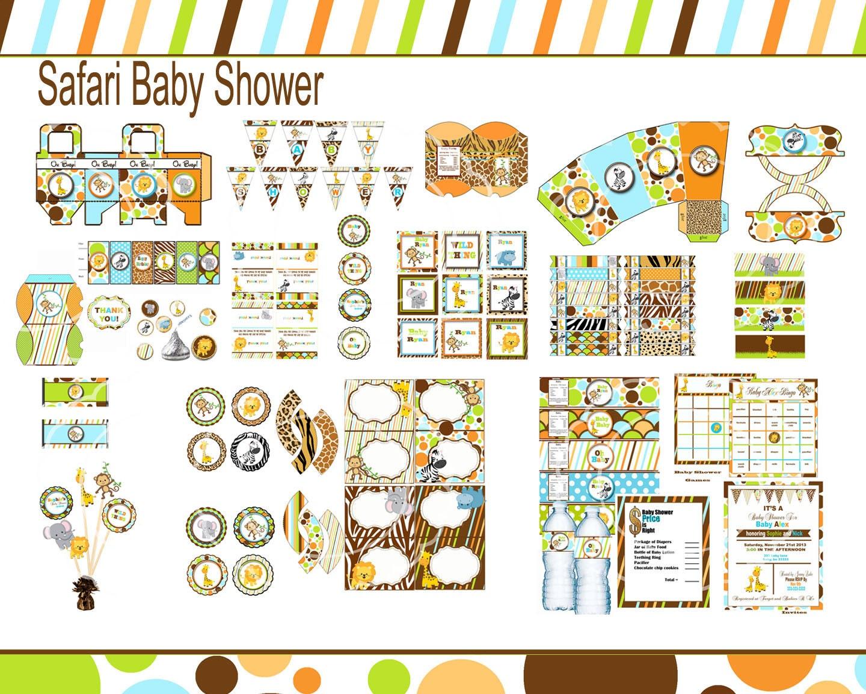 safari baby shower jungle baby shower zoo by blueangeldigitals