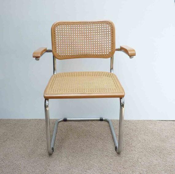 vintage marcel breuer chaise cann e cesca eames tubulaire. Black Bedroom Furniture Sets. Home Design Ideas