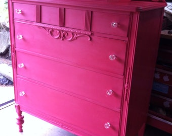 SOLD - Antique dresser in Coral