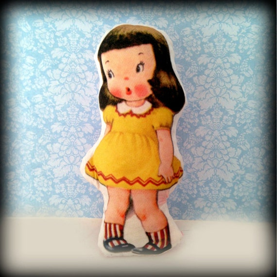 Mini Pocket Dolls -You Choose Handmade Vintage Print Plush Doll