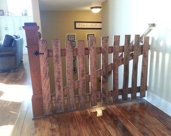 Rustic pallet wood baby or pet gates