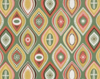 Riley Blake Fabric Valencia Green Geometric