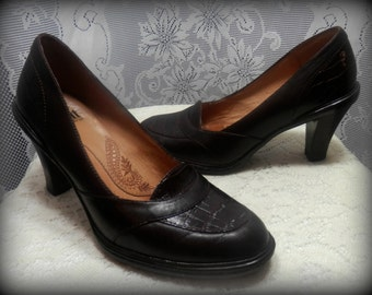 Leather dress shoes, Womens pumps, High heels, Women's shoes, Size 7M heels, Loafers with heels, Women's leather shoes