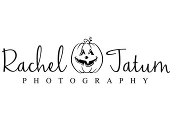 """Custom Premade Photography Logo and Watermark """"Pumpkin"""" - Limited Quantity and Special Edition Logo"""